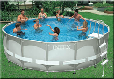Intex round ultra frame pool 488 x price in egypt for Carrefour piscinas intex