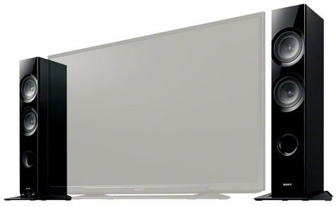 sony tv with speakers on side. sony sa-tss1 tv side speaker tv with speakers on