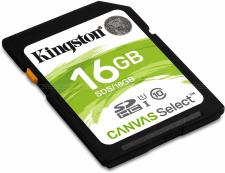 Kingston Canvas Select 16GB microSDHC Class 10 Flash Memory Card specifications and price in Egypt