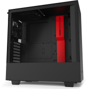 NZXT H510 Tempered Glass Mid-Tower Case Matte Black/Red specifications and price in Egypt