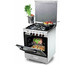 Kiriazi 6400 Gas Cooker (4 Burners) Stainless Steel